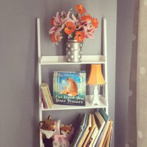 fox nursery bookshelf