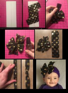 pinwheel bow step by step