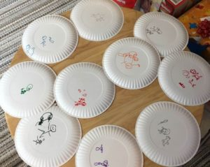 paper plate drawing game