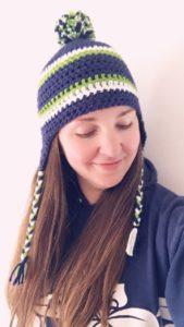 Seahawks Crochet Hat