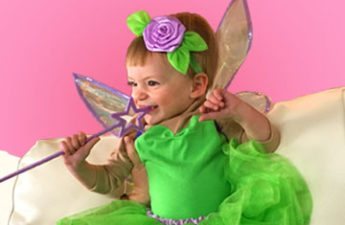 DIY Baby Tinker Bell fairy Costume