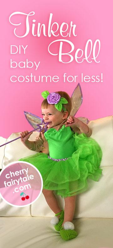 DIY Baby Tinker Bell fairy Costume