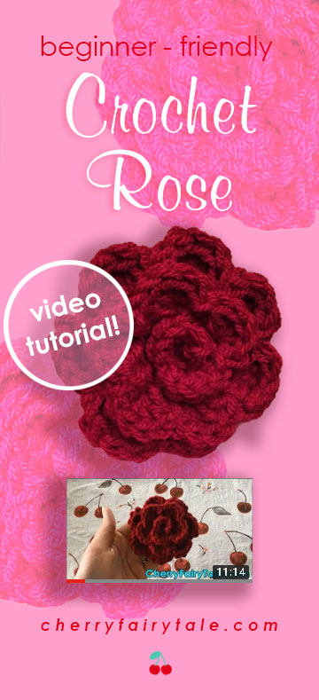 Crochet Rose Video Tutorial