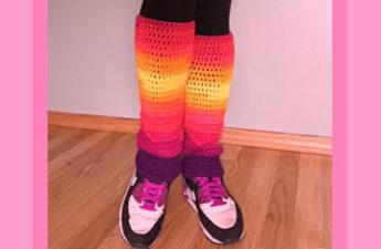 crochet leg warmers feature