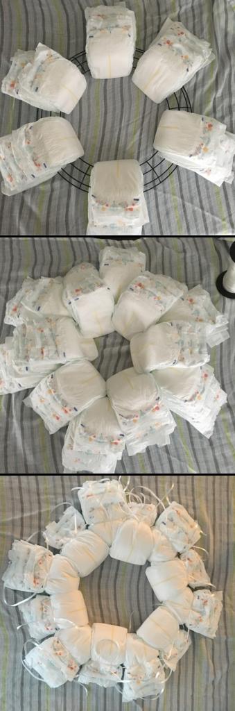 diaper wreath last step