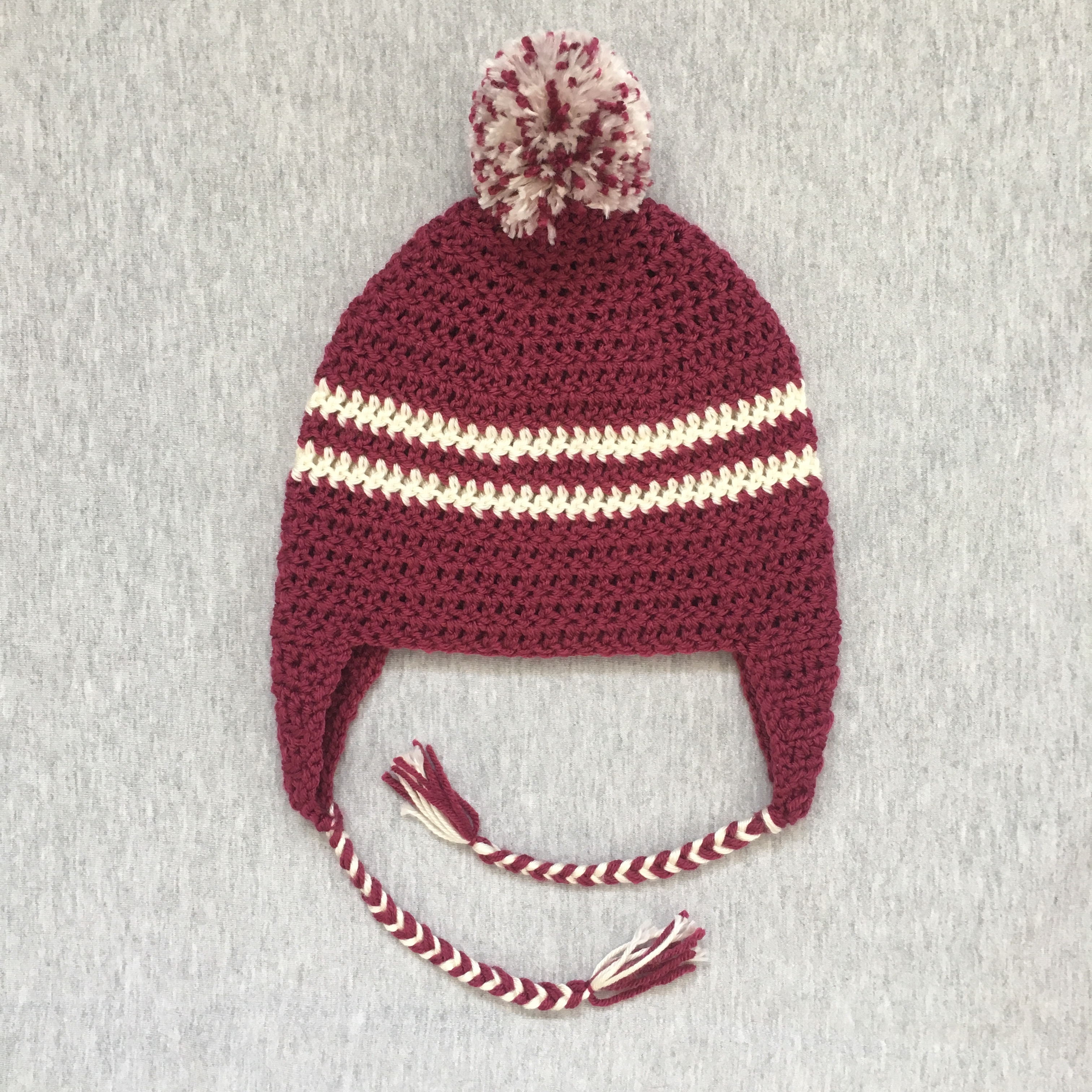 2 color winter hat