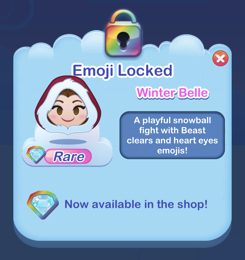 Winter Belle Disney Emoji Blitz