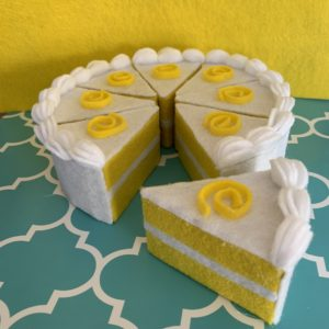 mini felt cake cherry fairy tale