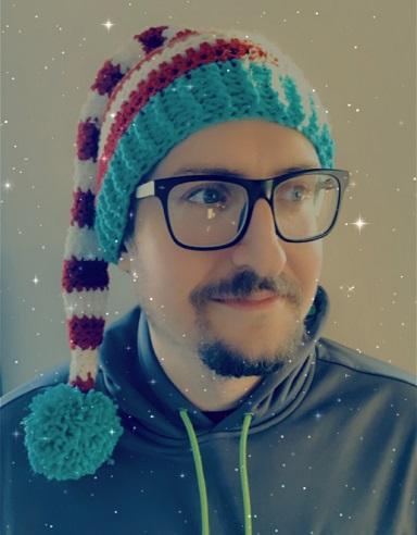 Striped Crochet Santa Hat by CherryFairyTale